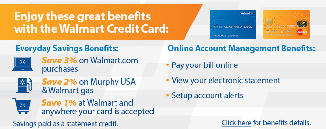 Walmart Credit Card login page